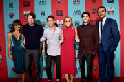 (L-R) Actors Lea Michele, Chord Overstreet, Kevin McHale, Becca Tobin, Darren Criss and Jacob Artist attend the premiere screening of FX's 'American Horror Story: Freak Show' at TCL Chinese Theatre on October 5, 2014 in Hollywood, California.
