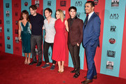 (L-R) Actors Lea Michele, Chord Overstreet, Kevin McHale, Becca Tobin, Darren Criss and Jacob Artist attend FX's 'American Horror Story: Freak Show' premiere screening at TCL Chinese Theatre on October 5, 2014 in Hollywood, California.