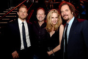 "(L-R) Actor Charlie Hunnam, John Landgraf, CEO, FX Network, his wife actress Ally Walker and actor Kim Coates pose at the after party for the season 7 premiere screening of FX's ""Sons of Anarchy"" at the Avalon on September 6, 2014 in Los Angeles, California."