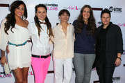 """(L-R) TV personalities Sara Bettencourt and Whitney Mixter, executive producer Ilene Chaiken and TV personalities Cori Boccumini and Kacy Boccumini attend the premiere of Showtime's """"The Real L World"""" Season 3 at Revolver on July 17, 2012 in West Hollywood, California."""