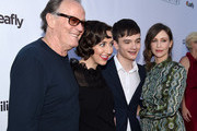 "(L-R) Actors Peter Fonda, Kristen Schaal, Lewis MacDougall and Vera Farmiga arrive at the premiere of Sony Pictures Classics' ""Boundaries"" at the American Cinematheque's Egyptian Theatre on June 19, 2018 in Los Angeles, California."