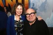 """Rhea Perlman (L) and Danny DeVito pose at the after party for the premiere of Sony Pictures' """"Jumanji: The Next Level"""" at TCL Chinese Theatre on December 09, 2019 in Hollywood, California."""
