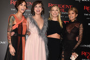 """(L-R) Actresses Ruby Rose, Milla Jovovich, Ali Larter and Rola arrive at the premiere of Sony Pictures Releasing's """"Resident Evil: The Final Chapter"""" at the Regal L.A. Live Theatres on January 23, 2017 in Los Angeles, California."""