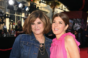 "Amy Pascal (L) and Marisa Tomei attend the premiere of Sony Pictures' ""Spider-Man Far From Home"" at TCL Chinese Theatre on June 26, 2019 in Hollywood, California."