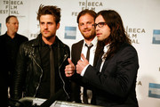 """(L to R) Jared Followill, Caleb Followill, and Nathan Followill of Kings of Leon attend the premiere of """"Talihina Sky: The Story of Kings of Leon"""" during the 2011 Tribeca Film Festival at BMCC Tribeca PAC on April 21, 2011 in New York City."""