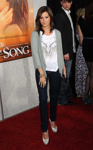 "Ashley Tisdale Actress Ashley Tisdale arrives at the premiere of Touchstone Picture's ""The Last Song"" held at ArcLight Hollywood on March 25, 2010 in Los Angeles, California."