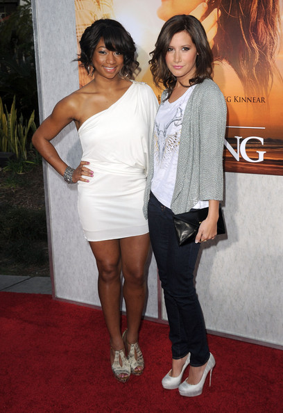 "Ashley Tisdale Actresses Monique Coleman (L) and Monique Coleman arrive at the premiere of Touchstone Picture's ""The Last Song"" held at ArcLight Hollywood on March 25, 2010 in Los Angeles, California."
