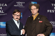 """Actors John Hodgman (L) and Sean Nelson attend the premiere of """"Treatment"""" during the 2011 Tribeca Film Festival at AMC Loews Village 7 on April 22, 2011 in New York City."""
