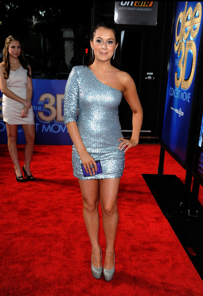 "Actress Alexa Vega arrives at the Premiere Of Twentieth Century Fox's ""Glee The 3D Concert Movie"" at the Regency Village Theater on August 6, 2011 in Westwood, California."