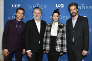 "(L-R) Matt Bomer, Bill Pullman, Jessica Biel, and Derek Simonds arrive at the Premiere of USA Network's ""The Sinner"" Season 3 at The London West Hollywood on February 03, 2020 in West Hollywood, California."