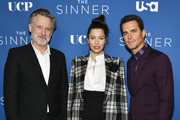 "(L-R) Bill Pullman, Jessica Biel, and Matt Bomer arrive at the Premiere of USA Network's ""The Sinner"" Season 3 at The London West Hollywood on February 03, 2020 in West Hollywood, California."