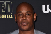 """Actor Bokeem Woodbine attends the premiere of USA Network's """"Unsolved: The Murders of Tupac and The Notorious B.I.G. at Avalon on February 22, 2018 in Hollywood, California."""