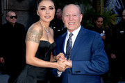 "Actress Daniella Pineda (L) and producer Frank Marshall arrive at the premiere of Universal Pictures and Amblin Entertainment's ""Jurassic World: Fallen Kingdom"" at the Walt Disney Concert Hall on June 12, 2018 in Los Angeles, California."