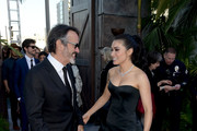 "Pruducer Patrick Crowley (L) and actor Daniella Pineda arrive at the premiere of Universal Pictures and Amblin Entertainment's ""Jurassic World: Fallen Kingdom"" at the Walt Disney Concert Hall on June 12, 2018 in Los Angeles, California."