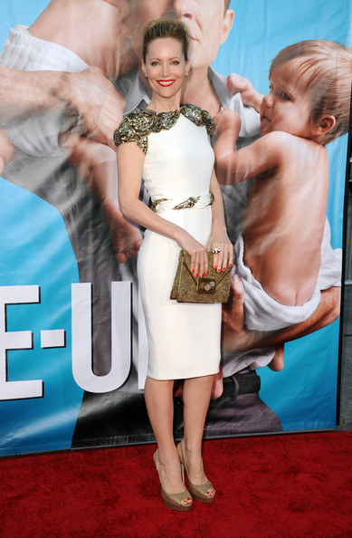"Actress Leslie Mann arrives at the premiere of Universal Pictures' ""The Change-Up"" held at the Regency Village Theatre on August 1, 2011 in Los Angeles, California."