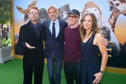 "(L-R) Robert Downey Jr., Stephen Gaghan, Danny Elfman, and Susan Downey attend the Premiere of Universal Pictures' ""Dolittle"" at Regency Village Theatre on January 11, 2020 in Westwood, California."