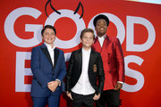 L-R) Brady Noon, Jacob Tremblay and Keith L. Williams arrive at the premiere of Universal Pictures' 'Good Boys' at the Regency Village Theatre on August 14, 2019 in Westwood, California.