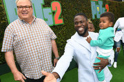 (L-R) Eric Stonestreet, Kevin Hart, and Kenzo Kash Hart attend the Premiere of Universal Pictures' 'The Secret Life Of Pets 2' at Regency Village Theatre on June 02, 2019 in Westwood, California.