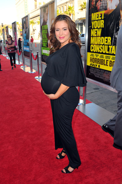 "Actress Alyssa Milano arrives at the premiere of Warner Bros. Pictures' ""Horrible Bosses"" at Grauman's Chinese Theatre on June 30, 2011 in Hollywood, California."