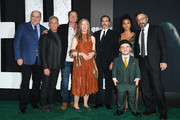 "Glenn Fleshler, Josh Pais, Brett Cullen, Frances Conroy, Joaquin Phoenix, Zazie Beetz, Leigh Gill and Marc Maron attend the premiere of Warner Bros Pictures ""Joker"" on September 28, 2019 in Hollywood, California."
