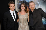 """(L-R) Actors Robert Kazinsky, Heather Doerksen and Max Martini arrive at the premiere of Warner Bros. Pictures' and Legendary Pictures' """"Pacific Rim"""" at Dolby Theatre on July 9, 2013 in Hollywood, California."""