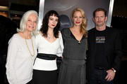 """(L-R) Maggie Johnson, Graylen Eastwood, Alison Eastwood and Stacy Poitras arrive at the premiere of Warner Bros. Pictures' """"The Mule"""" at the Village Theatre on December 10, 2018 in Los Angeles, California."""