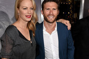 "Alison Eastwood (L) and Scott Eastwood pose at the premiere of Warner Bros. Pictures' ""The Mule"" at the Village Theatre on December 10, 2018 in Los Angeles, California."