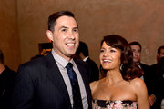 "Director Brad Peyton (L) and actress Carla Gugino pose at the after party for the premiere of Warner Bros. Pictures' ""San Andreas"" at the Hollywood Roosevelt Hotel on May 26, 2015 in Los Angeles, California."