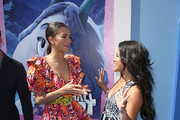 "Zendaya and Gina Rodriguez attend the premiere of Warner Bros. Pictures' ""Smallfoot"" at the Regency Village Theatre on September 22, 2018 in Westwood, California."