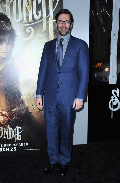 "Actor Jon Hamm arrives at the ""Sucker Punch"" Los Angeles premiere at Grauman's Chinese Theatre on March 23, 2011 in Hollywood, California."