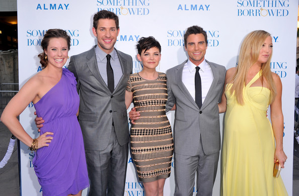"(L-R) Actors Ashley Williams, John Krasinskil, Ginnifer Goodwin, Colin Egglesfield and Kate Hudson arrive at the premiere of Warner Bros. ""Something Borrowed"" held at Grauman's Chinese Theatre on May 3, 2011 in Hollywood, California."