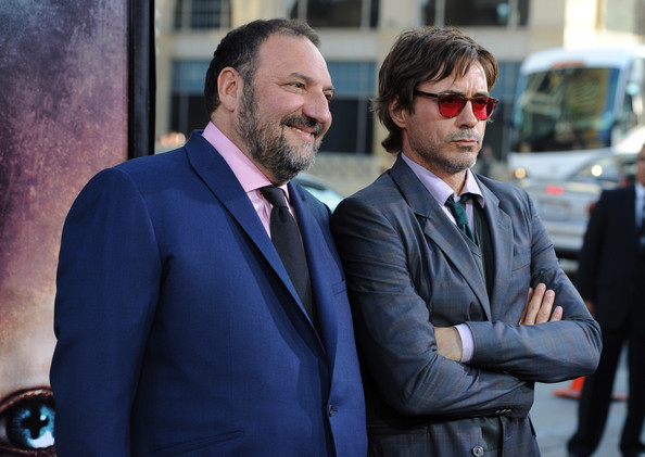 (L-R) Producer Joel Silver and actor Robert Downey Jr. arrives at the Premiere of Warner Bros.