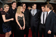 "(L-R) Actor Diane Kruger, director/writer Quentin Tarantino, Melanie Laurent, Brad Pitt, Eli Roth, B.J. Novak, and Christoph Waltz arrives at the premiere of Weinstein Co.'s ""Inglorious Basterds"" held at Grauman's Chinese Theatre on August 10, 2009 in Hollywood, California."