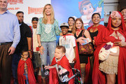 Model/actress Heidi Klum and patients from the Children's Hospital Los Angeles attend the HOODWINKED TOO! HOOD vs EVIL Premiere Hosted by Heidi Klum, Maurice Kanbar and Harvey Weinstein at the Pacific Theaters at The Grove on April 16, 2011 in Los Angeles, California.