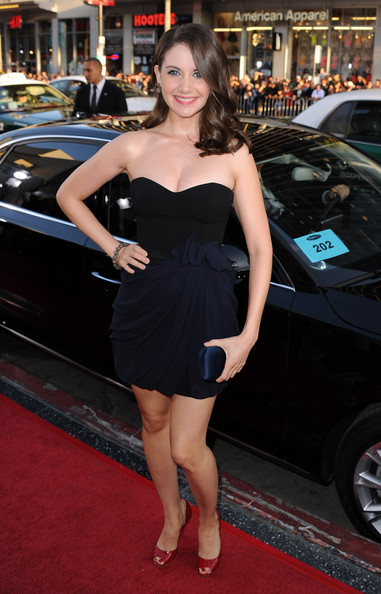 "Actress Alison Brie arrives at the premiere of The Weinstein Company's ""Scream 4"" held at Grauman's Chinese Theatre on April 11, 2011 in Hollywood, California."