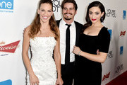 (L-R) Actress/producer Hilary Swank, actors Jason Ritter and Emmy Rossum arrive at the premiere of eOne Films' 'You're Not You' at the Vanguard Theatre on October 8, 2014 in Los Angeles, California.