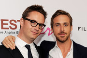 "Director Nicolas Winding Refn (L) and actor Ryan Gosling arrive at the Los Angeles Film Festival's special screening of ""Drive"" at the L.A. Live Regal Cinemas on June 17, 2011 in Los Angeles, California."
