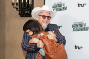 "Bobcat Goldthwait and Charlyne Yi attend the premiere of truTV's ""Bobcat Goldthwait's Misfits & Monsters"" at Hollywood Roosevelt Hotel on July 11, 2018 in Hollywood, California."