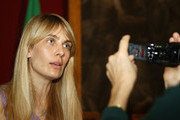 Lavinia Borromeo Elkann speaks to journalists during the press conference for the presentation of the Torino 2010 ISU World Figure Skating Championships, at Montecitorio Palace on March 10, 2010 in Rome, Italy.