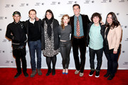 (L-R) Actor Michael Chacon, Christopher Denham, Jennifer Dubin, Wrenn Schmidt, Pablo Schreiber, Nick Saso and Cora Olson attend the 'Preservation' Premiere during the 2014 Tribeca Film Festival at the SVA Theater on April 17, 2014 in New York City.