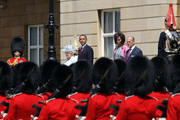 (L-R) Queen Elizabeth II, US President Barack Obama, First Lady Michelle Obama and Prince Philip, Duke of Edinburgh watch the honour guard march at Buckingham Palace on May 24, 2011 in London, England. The 44th President of the United States, Barack Obama, and his wife Michelle are in the UK for a two day State Visit at the invitation of HM Queen Elizabeth II. During the trip they will attend a state banquet at Buckingham Palace and the President will address both houses of parliament at Westminster Hall.