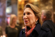 Former Republican presidential candidate Carly Fiorina speaks to the media after a meeting at Trump Tower  on December 12, 2016 in New York City. President-elect Donald Trump continues to hold meetings with potential members of his cabinet at his office.
