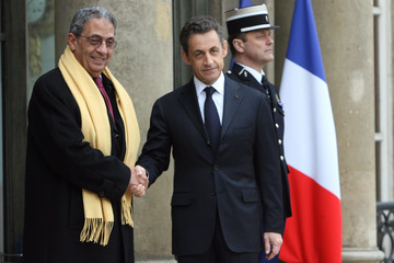 Amr Moussa President Nicolas Sarkozy Hosts A Summit Over The Libyan Crisis At The Elysee Palace