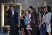 Barack Obama and Sasha Obama Photos Photo