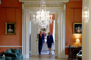 Prime Minister Theresa May and US President Donald Trump during a visit to 10 Downing Street, during the second day of his State Visit on June 4, 2019 in London, England. President Trump's three-day state visit began with lunch with the Queen, followed by a State Banquet at Buckingham Palace, whilst today he will attend business meetings with the Prime Minister and the Duke of York, before travelling to Portsmouth to mark the 75th anniversary of the D-Day landings.