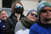 A person wears a respirator mask while attending a campaign rally with Democratic presidential candidate Sen. Bernie Sanders (I-VT) on the Central Mall of the Utah State Fair Park March 02, 2020 in Salt Lake City, Utah. Sanders is campaigning in Utah and Minnesota the day before Super Tuesday, when 1,357 Democratic delegates in 14 states across the country will be up for grabs.