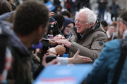 Democratic presidential candidate Sen. Bernie Sanders (I-VT) greets supporters at the conclusion of a campaign rally in the Central Mall of the Utah State Fair Park March 02, 2020 in Salt Lake City, Utah. Sanders is campaigning in Utah and Minnesota the day before Super Tuesday, when 1,357 Democratic delegates in 14 states across the country will be up for grabs.
