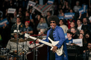 The New Power Generation performs at a rally for Democratic presidential candidatee and Senator (I-VT) Bernie Sanders at the University of Minnesotas Williams Arena on November, 3, 2019 in Minneapolis, Minnesota. Sanders was joined at the rally by Democratic Representative Ilhan Omar, who praised the Senator's policy proposals of comprehensive immigration reform and support for unions.