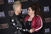 Frankie Grande and Marissa Jaret Winokur attend Preview Of Rock of Ages Hollywood At The Bourbon Room on December 18, 2019 in Hollywood, California.