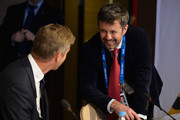 Prince Frederik of Denmark (R) attends the International Olympic Committee (IOC) meeting ahead of the Sochi 2014 Winter Olympics at the Radisson Blu hotel on February 5, 2014 in Sochi, Russia.